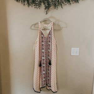 Patterned Cream Dress